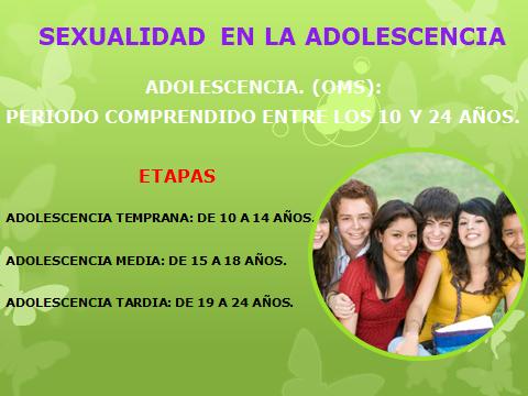 SEXUALIDAD EN LA ADOLESCENCIA 20