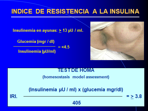 OVARIOS POLIQUISTICOS. INDICE R. INSULINA.-