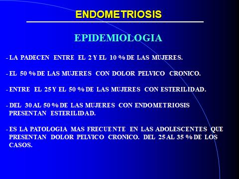 endometriosis. epidemiologia