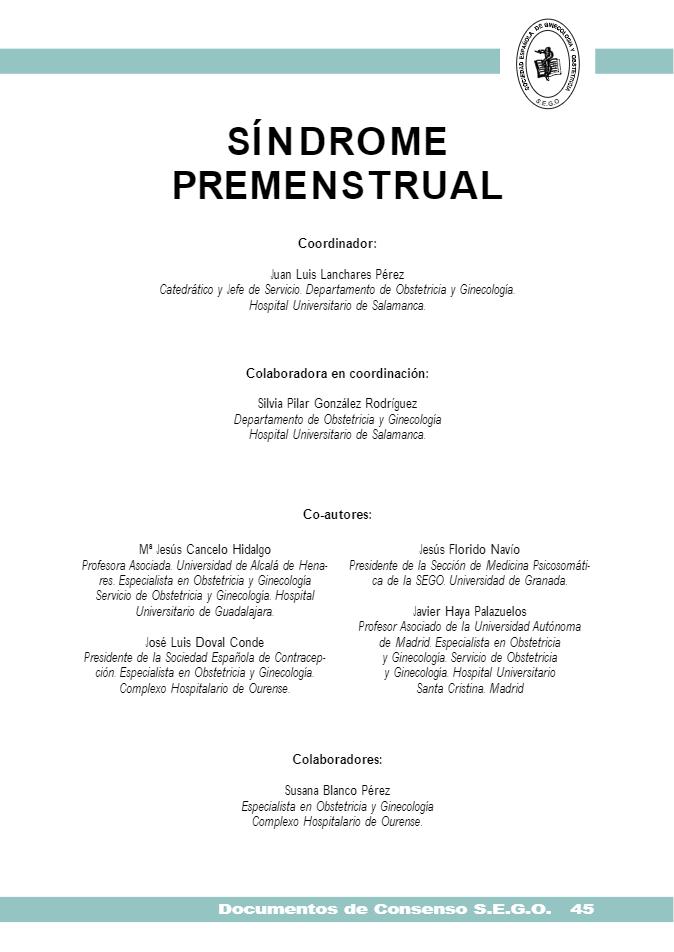 SINDROME PREMENSTRUAL. AUTORES-2